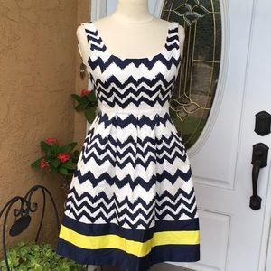 Nine West white-blue-lime dress size 2p